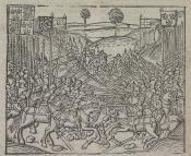 : Cronyke, Antwerpen, Roland van den Dorpe, [1498], [RR3r]. Kok 306.50 first state: 109 x 132 mm. Koninklijke Bibliotheek Den Haag KW 171 D 28.