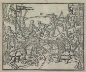 Cronyke, Antwerpen Roland van den Dorpe. [1498], H2verso: 109 x 131 mm. Kok 306.40. Koninklijke Bibliotheek Den Haag KW 171 D 28 (Van Doesborch, Distructie 10)