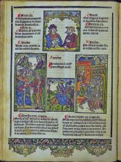 Den oorspronck onser salicheyt. Jan van Doesborch, Anwerpen 1517, [D2r] c. 285 x 195 mm. Ex: Koninklijke Bibliotheek Den Haag, 226 A 17.