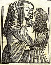 Het Huys der fortunen 1518,  Blanchefleur Uit: Ary Delen, 'Illustraties met vervangbare stukken' De Gulden Passer 1 (1923), 30-31.