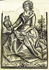 Het Huys der fortunen 1518,  Sandrijne. Uit: Ary Delen, 'Illustraties met vervangbare stukken' De Gulden Passer 1 (1923), 30-31.
